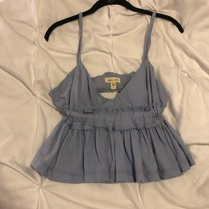Urban outfitters blue flowy crop tank NWOT!